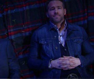 Ryan Reynolds ponders the meaning of 'Life' with Stephen Colbert on 'The Late Show'