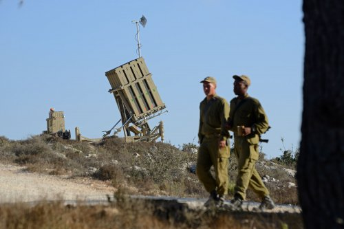 Israel intercepts rockets in evening attack