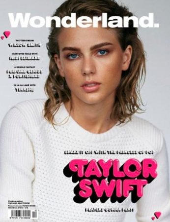 Taylor Swift debuts dark brows on Wonderland cover