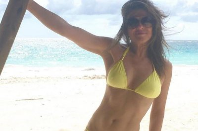 Elizabeth Hurley stuns in bikini photo at age 50