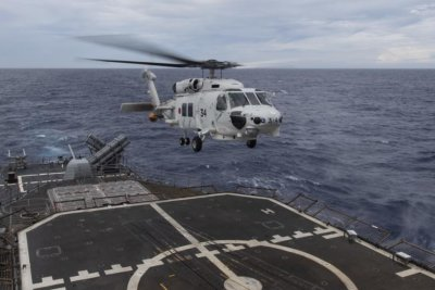 USS Ronald Reagan strike group conducts exercise with Japan