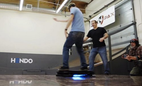 Watch: Professional skater Tony Hawk tries riding a hover board