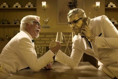Two Colonels fight for screen time in KFC's Super Bowl ad