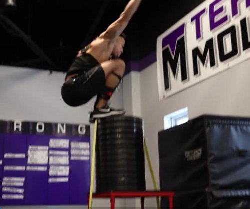 Athlete's 67-inch standing high jump breaks world record
