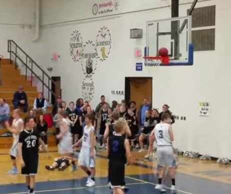 Middle school basketball game ruined by uncooperative ball