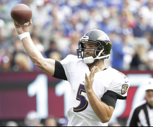 Baltimore Ravens QB Joe Flacco back at practice, remains questionable