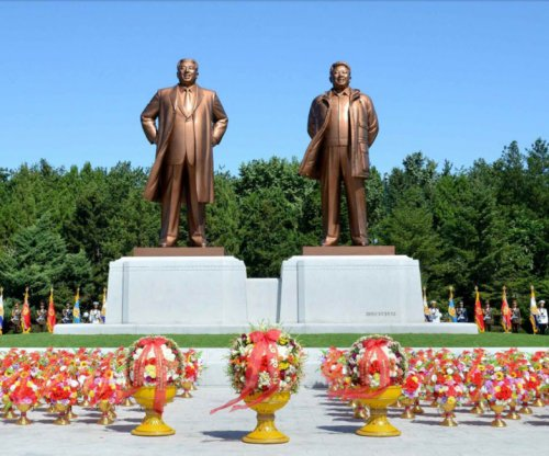 North Korea erecting Kim statues in new science complex