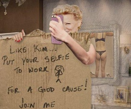 Bette Midler puts Kardashian selfie 'to work' with charity post