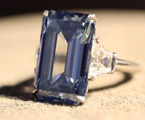 Fourteen-karat Oppenheimer Blue diamond sells for record $57.5M at Swiss auction