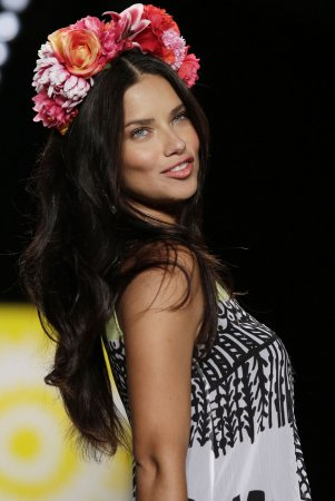 Adriana Lima walks for Desigual at New York Fashion Week