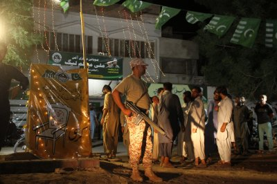 More than two dozen dead in election day bombing in Pakistan