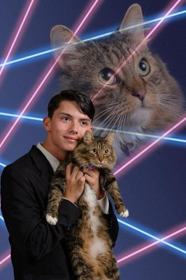 Schenectady High School student insists on laser cat pic for yearbook photo