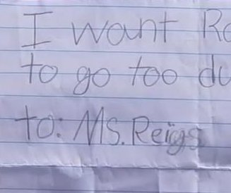 Texas teachers tricked by 7-year-old's misspelled note forgery