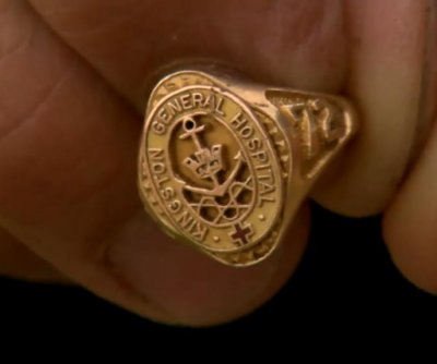 Watch: Teacher finds nurse's graduation ring lost in 1982