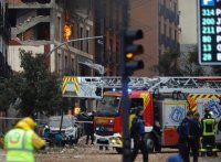 Possible gas leak explosion kills at least 2 in downtown Madrid
