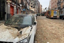 Possible gas leak explosion kills at least 3 in downtown Madrid
