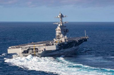 Ford carrier completes combat systems trials with missile-firing exercise