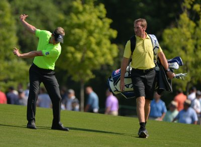 Luke Donald leads U.S. Open when first-round play halted