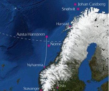 Statoil marks gas pipeline milestone