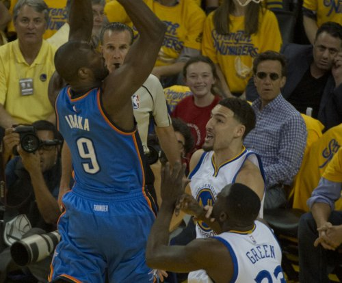 Oklahoma City Thunder's Serge Ibaka, Orlando Magic's Victor Oladipo swapped