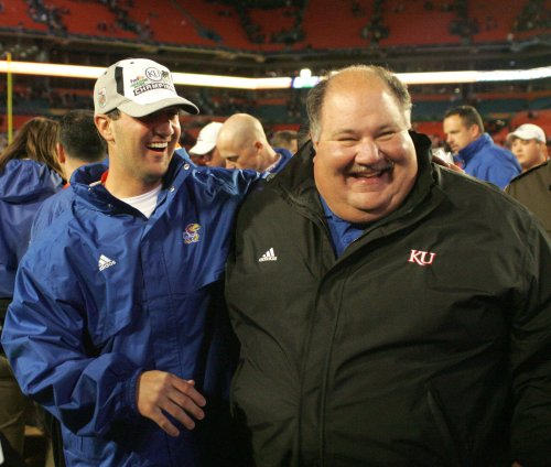 Kansas extends contract of football coach