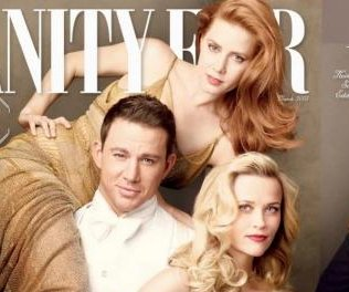 Channing Tatum tosses Amy Adams over his shoulder on cover of Vanity Fair