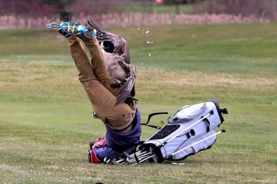 Goose attacks high school golfer in Michigan