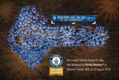 314 people form shape of a key to set Guinness record