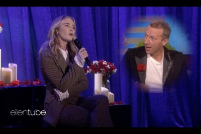 Emily Blunt sings apology to Chris Martin over 'Quiet Place' pitch