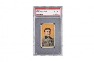 Honus Wagner baseball card sells for record $1.4M