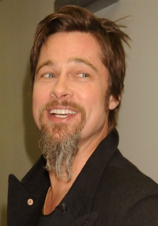 Brad Pitt shaves the beard