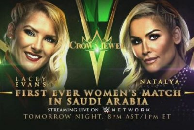 WWE to present first-ever women's match in Saudi Arabia