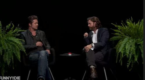 Brad Pitt dodges questions about Jennifer Aniston, losing his virginity on 'Between Two Ferns'