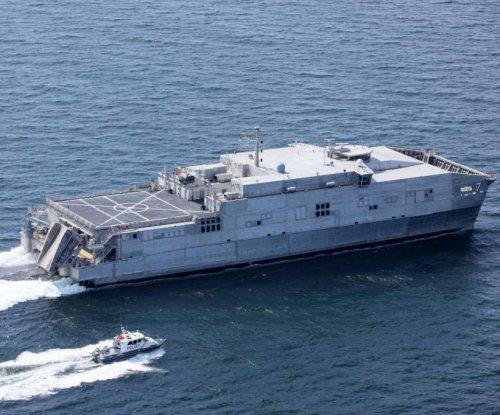 Future USNS Yuma launches from Austal USA shipyard