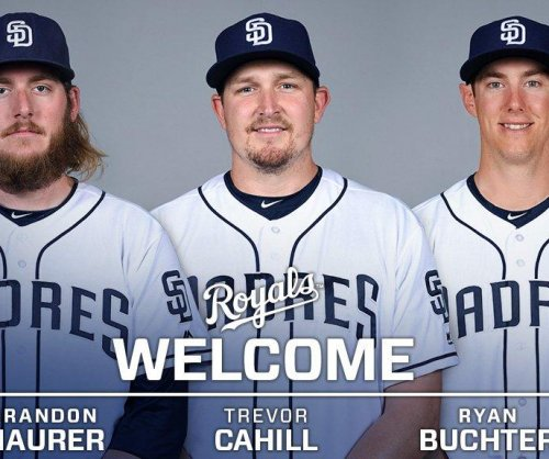 Kansas City Royals acquire Ryan Buchter, Trevor Cahill, Brandon Maurer from San Diego Padres