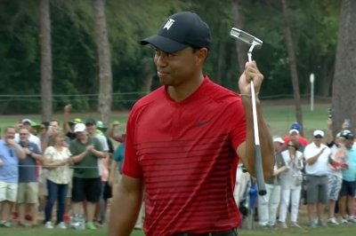 Valspar Championship: Tiger Woods drains 44-foot birdie, finishes second