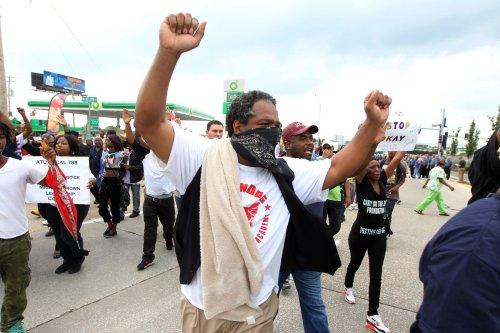 Ferguson protests flare up again; arrests made