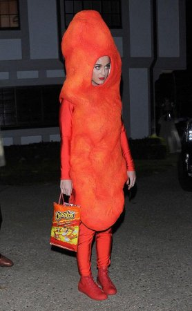 Katy Perry dressed as giant Cheeto for Halloween