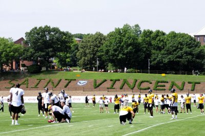 Fan tries to participate in Pittsburgh Steelers' practice, escorted off field