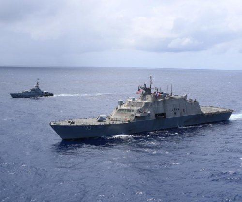 USS Wichita, Jamaica's HMJS Cornwall conduct live-fire exercise