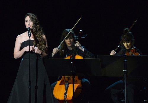 Sara Bareilles performs 'Smile' during Robin Williams Emmy Tribute