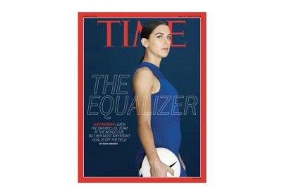 U.S. soccer star Alex Morgan covers 'Time,' will decline possible White House invite