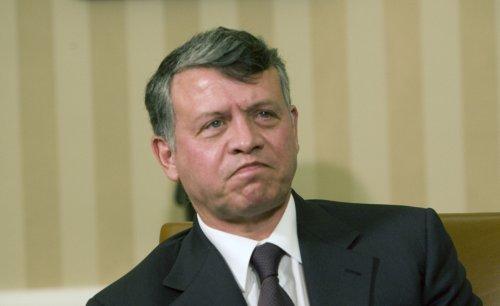 Jordan denies stones were thrown at king