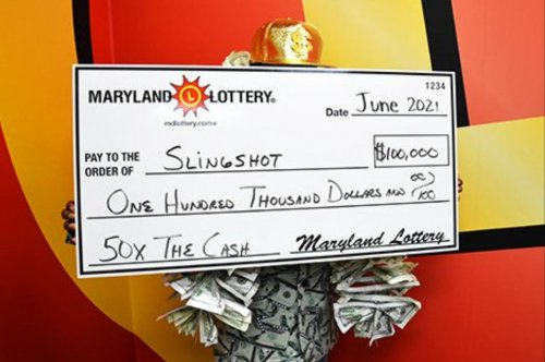 Maryland woman uses lottery winnings to buy $100,000 payout ticket