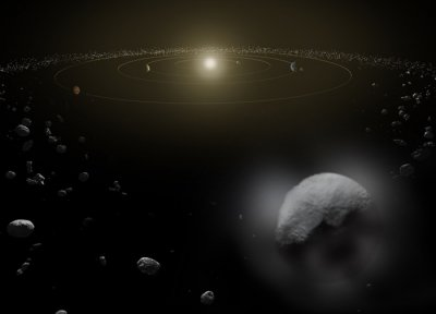 Space telescopes see water vapor springing from dwarf planet Ceres