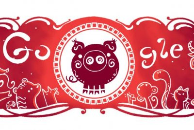 Google celebrates Lunar New Year with Year of the Pig Doodle