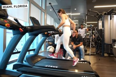 Soccer freestyler breaks world record for ball touches on treadmill