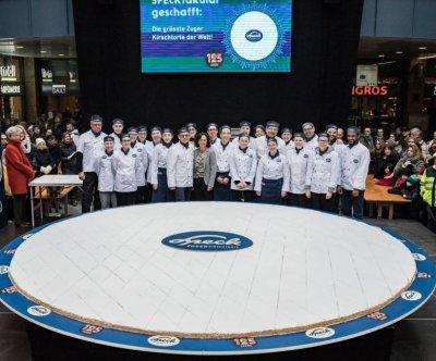 Swiss town bakes world's largest Zuger Kirschtorte cake