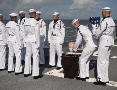 Neil Armstrong buried at sea