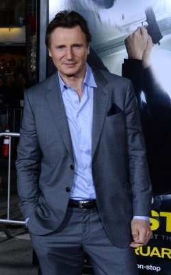 Animal-rights activists picket Liam Neeson's NYC home